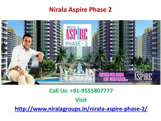 Nirala Aspire Phase 2 Luxurious Township at Noida Extension