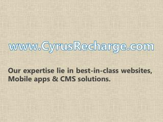 Cyrus Recharge Offering Software & API