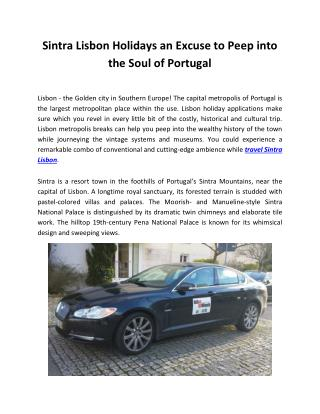 Sintra Lisbon Holidays an Excuse to Peep into the Soul of Portugal