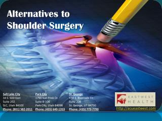 Alternatives to Shoulder Surgery by - Acueastwest