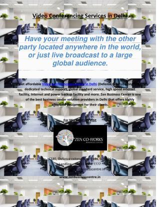 Video Conferencing Service in Delhi