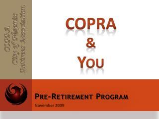 Pre-Retirement Program