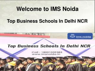 Top Business Schools In Delhi NCR