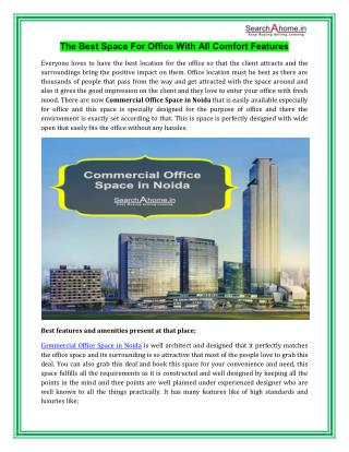 Commercial Office Space in Noida