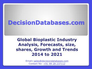 Bioplastic  Market International Analysis and Forecasts 2021