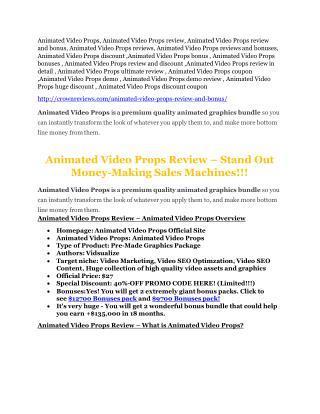 Animated Video Props bonus