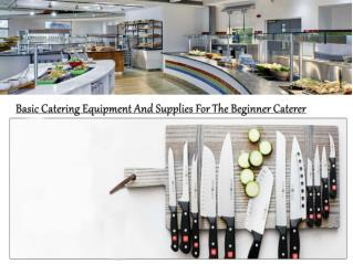 Basic Catering Equipment And Supplies For The Beginner Caterer