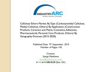 Cellulose Ethers Market | IndustryARC.