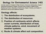 Geology for Environmental Science 1401
