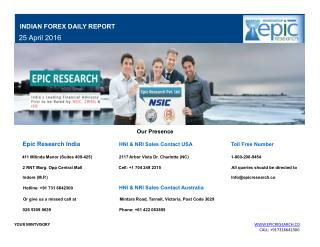 Epic Research Daily Forex Report 25 April 2016