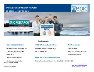 Epic Research Weekly Forex Report 25 April 2016