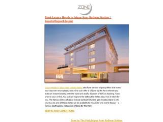 Book Luxury Hotels in Jaipur Near Railway Station   Zonebythepark Jaipur