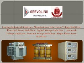 Electrical Stabilizer Manufacturers