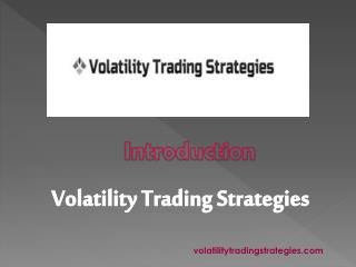 Professional Traders - Volatilitytradingstrategies.com