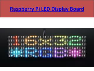 Raspberry Pi Display Module PPT