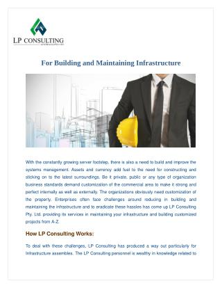 LP Consulting for Building and Maintaining Your Infrastructure
