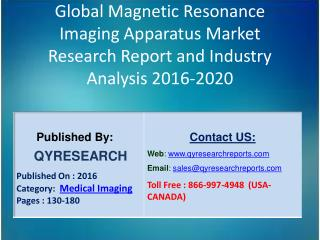Global Magnetic Resonance Imaging Apparatus Industry 2016 Market Development, Research and  Analysis