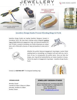 Jewellery Design Studio Present Weeding Rings In Perth