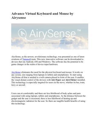 Advance Virtual Keyboard and Mouse by Airysense