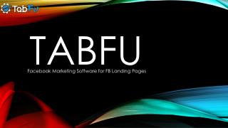 TabFu | Facebook Marketing Software for FB Landing Pages