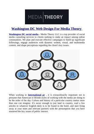 Washington DC Web Design For Media Theory