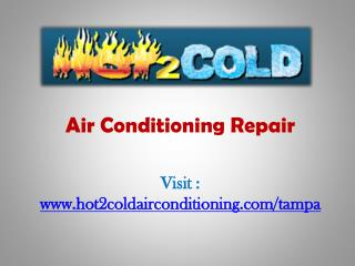 Service air conditioners Tampa-Hot2cold