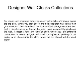 Latest Design Wall Clocks Collections