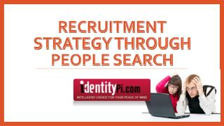 Recruitment Strategy through People Search