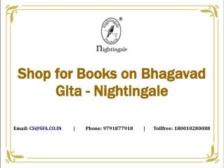 Shop for Books on Bhagavad Gita - Nightingale