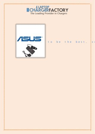 Asus Charger Just What You Needed