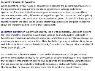Locksmith Evanston