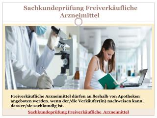 Sachkundepr�fung Freiverk�ufliche Arzneimittel