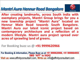 Mantri Aura @09999620966 new Project apartments banaglore