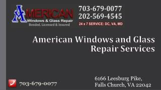 Window Repair and Residential Glass Replacement