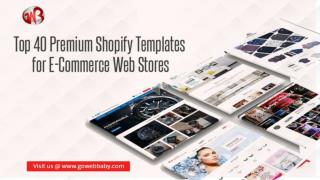 Top 40 Premium Shopify Templates for eCommerce Web Stores