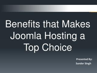 Benefits that Makes Joomla Hosting a Best Choice
