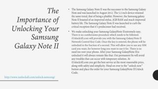 The Importance of Unlocking Your Samsung Galaxy Note II