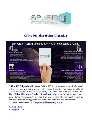 Office 365 SharePoint Migration