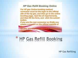 HP Gas Refill Booking