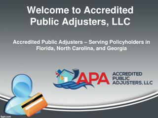Welcome to Accredited Public Adjusters, LLC