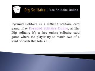 Pyramid Solitaire Online Free Play Here