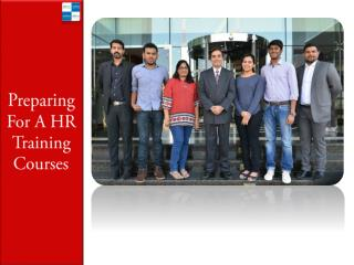 Preparing For A HR Training Courses