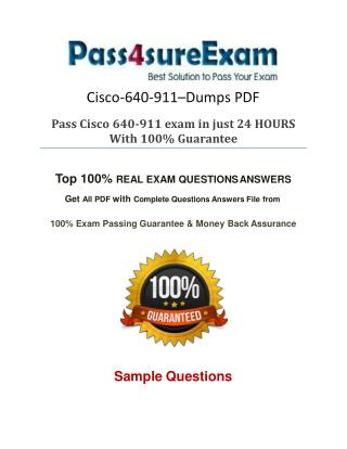 640-911 Exam Questions With 100% Passing Guarantee