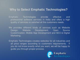 Get Professional website development services from emphatic technologies