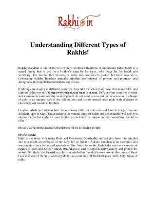 Understanding Different Types of Rakhis!