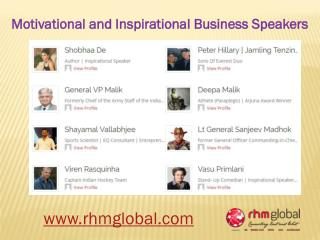 Top Motivational and Inspirational Business Speakers India