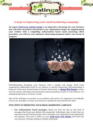 5 steps to improving your email marketing campaign