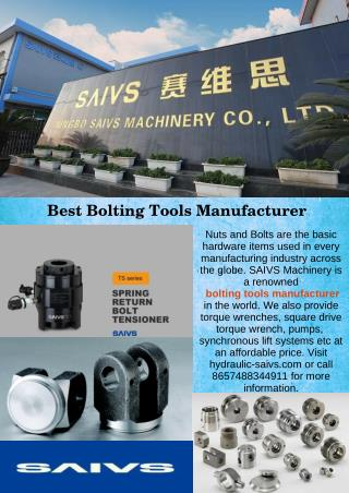 Best Bolting Tools Manufacturer