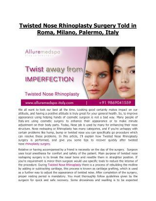 Rhinoplasty Surgery Rome