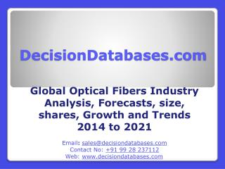 Optical Fibers Market 2021 - Industry Analysis, Trends, Growth, Share, Forecasts and  Demands